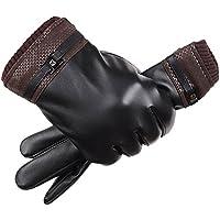 (ミラ ボルサ) MILA BORSA 手袋 防寒 スマホ対応 タッチパネル対応 メンズ レザー グローブ 革 スマホ手袋 (Bタイプ-ブラック)