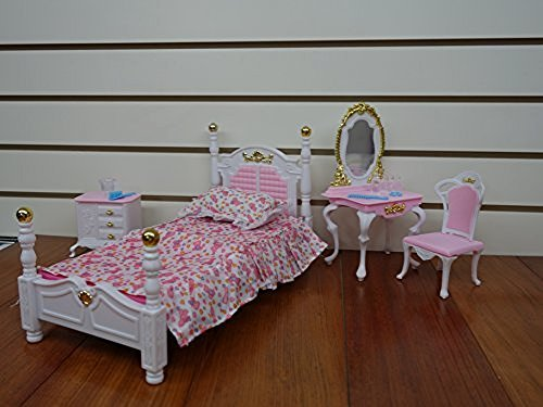 My Fancy Life Barbie Size Dollhouse Furniture, Bed Room and
