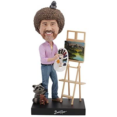 Royal Bobbles Bob Ross Bobblehead, Collectible Bobblehead Figurines: Toys & Games