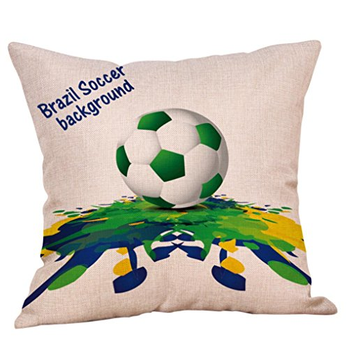 World Cup Pillow Cases Linen Sofa Cushion Cover Home Decor Pillow Case (Multicolor J) ()