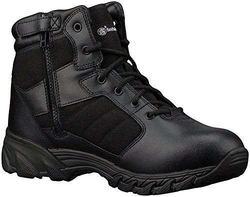 Smith & Wesson Men's Breach 2.0 Tactical Size Zip Boots, Black, 7W (Black Buck Operation)