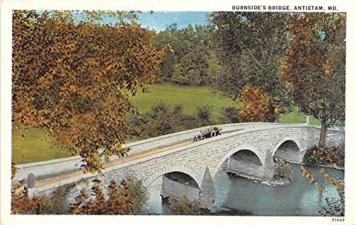 (Civil War Post Card Old Vintage Antique Postcard Burnside's Bridge, Antietam, Maryland)
