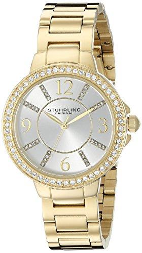 Stuhrling Original Women's 480.04 Allure Gold-Tone Stainless Steel Bracelet Watch