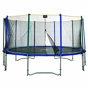 pure fun 15 foot trampoline and enclosure set trampolines with safety enclosure. Black Bedroom Furniture Sets. Home Design Ideas