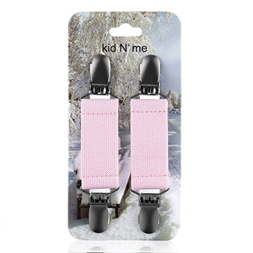 Kid n' Me Mitten Clips  Stainless Steel and Flexible Elastic Glove Accessories Firm, Reliable Grip Strength Versatile Keeper