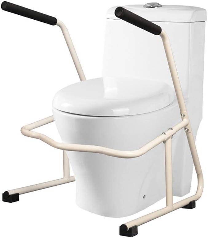 Axd Free Standing Toilet Frame, Carbon Steel Bathroom Safety seits Rail Anti-Slip Armrest, für Elderly Disabled, Bear 150Kg