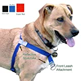 Walk Your Dog With Love, No-Pull Front-Attachment Harness (Super Red, 25-65 pounds)