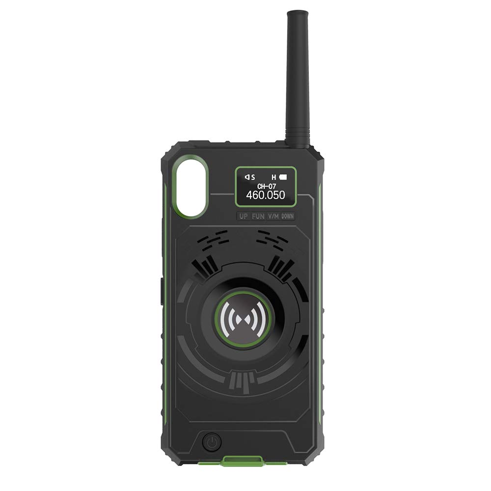 Docooler BOXCHIP Outdoor Walkie Talkie 3-in-1 Multi-Function Intercom Power Bank Phone Case for iPhone X