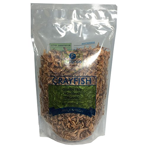 JEB FOODS Crayfish West Africa Seafood Dried Baby Shrimp, Fresh Water, Best Crawfish, Ready to Prepare, 8 oz.