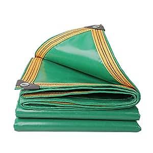 QIANGDA Toldo Lona De Protección Piscina Cloruro De Polivinilo Borde Reforzado Pabellón Toldo Impermeable -350 G / M², Espesor 0.32 Mm, Verde, 8 Tamaños Opcionales, Tamaño Personalizado ( Tamaño : 4 x 4m )