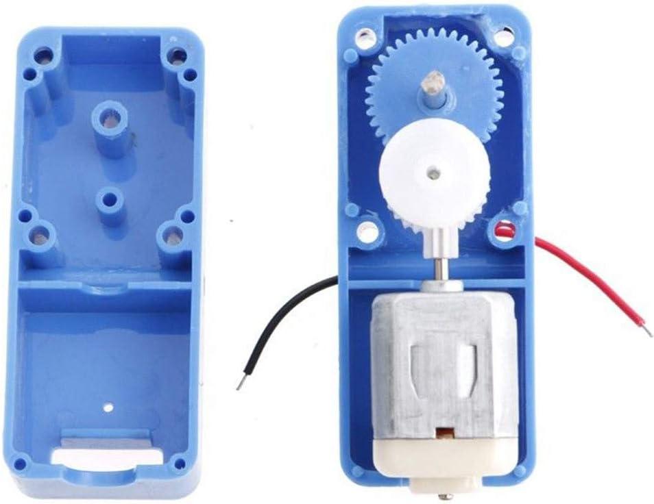 Refaxi 3V-6V Dc 1:90 Mini Moteur /à Engrenages R/éducteur /électrique /à Engrenages De Bricolage Robot Voiture