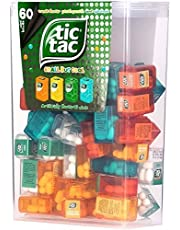 TIC TAC Box with 60 Mini Boxes (Mint, Orange, Spearmint, Peach and Passion fruit) 234g by Tic Tac