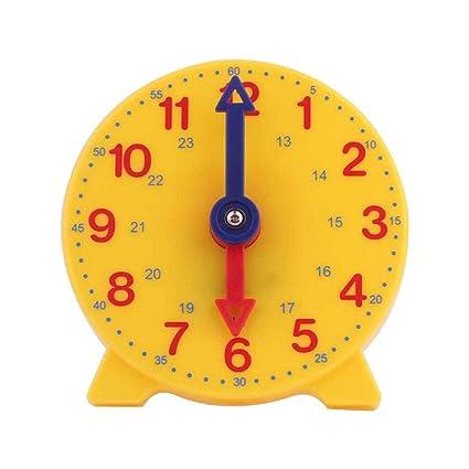 Amazon.com: STOBOK Small Learn Time Clock Kids Teaching ...