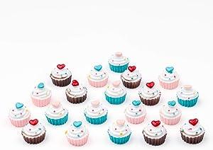 AMOBESTER Dollhouse Miniature Food Cupcake Dollhouse Decoration Kitchen Cupcakes