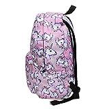 Bonama Pink Unicorn Rainbow Bag Fantasy Backpack Rucksack School Student Travel Bags (Pink)