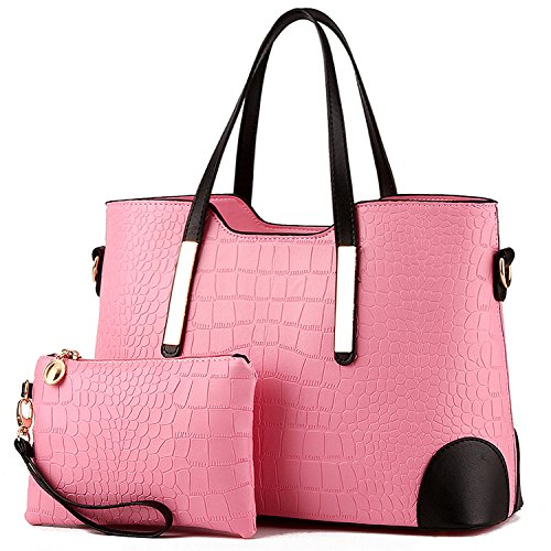 TcIFE Purses and Handbags for Womens Satchel Shoulder Tote Bags Wallets Alligator Grain Leather Strap