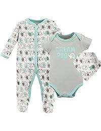 Baby Sleeper, Bodysuit and Bandana Bib Set