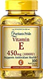 Puritan's Pride Vitamin E 1000 IU Softgels, 6.7 Ounce