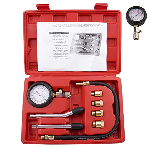 Bang4buck 8 Pieces Engine Compression Gauge Test Set Cylinder Diagostic Tool Kit 0-300 PSI 0-20 KPA with Manual by Bang4buck (Image #8)