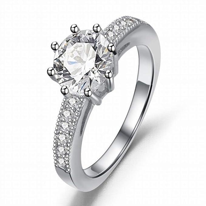 Thumby-ring Anillo Circundante Casual Clásico de Mujer Zircon ...