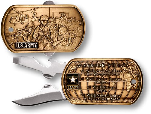 Army Warrior Ethos Pocket Knife