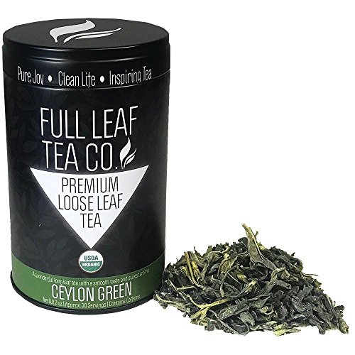 Organic Ceylon Green (Sri Lanka) Tea 2oz Tin (approx. 30 servings)