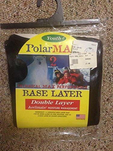 Polarmax Unisex Youth Double Base Layer Long Sleeve Crew xs -