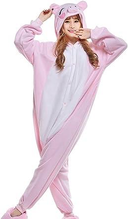 wotogold Pijama de Cerdo Animal Disfraces de Cosplay Unisex para Adultos