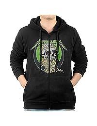 KIHOYG Men's Metallica Men's One T-shirt Black Hooded Zip Front Sweatshirt