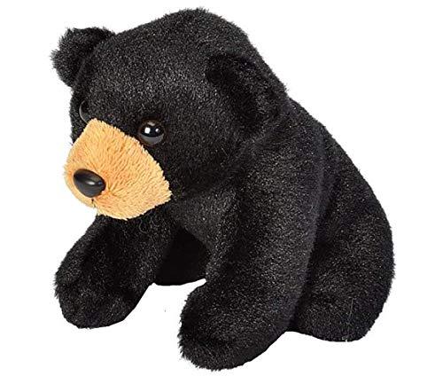 "Wild Republic Black Bear Plush, Stuffed Animal, Plush Toy, Gifts for Kids, Cuddlekins 5"""