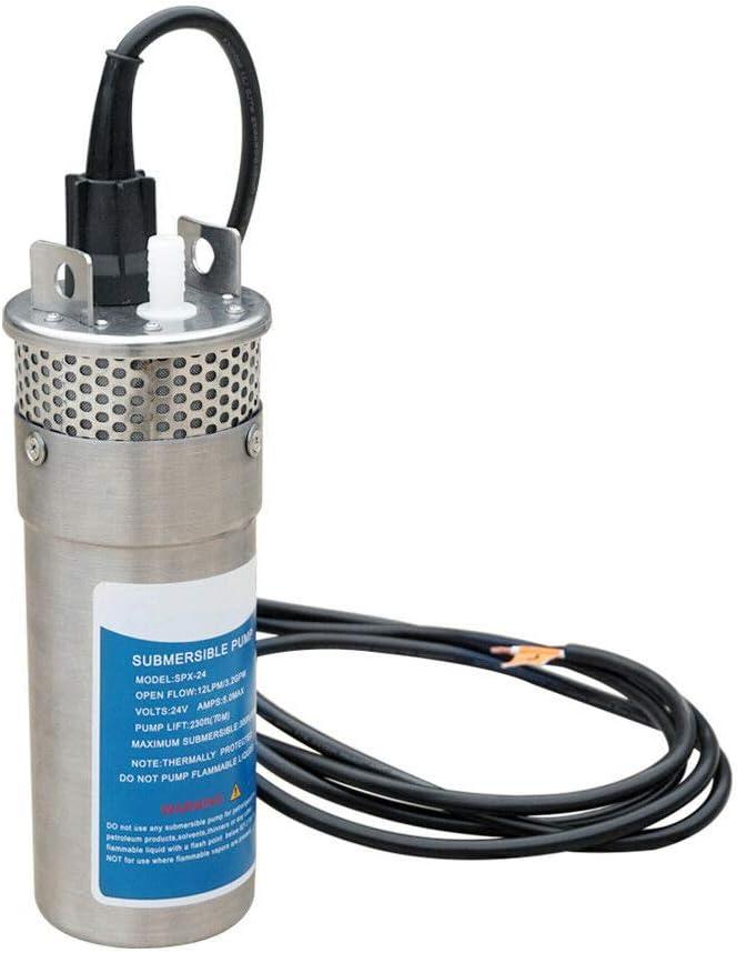 ECO-WORTHY Bomba de pozo de agua sumergible de 24V DC de acero inoxidable