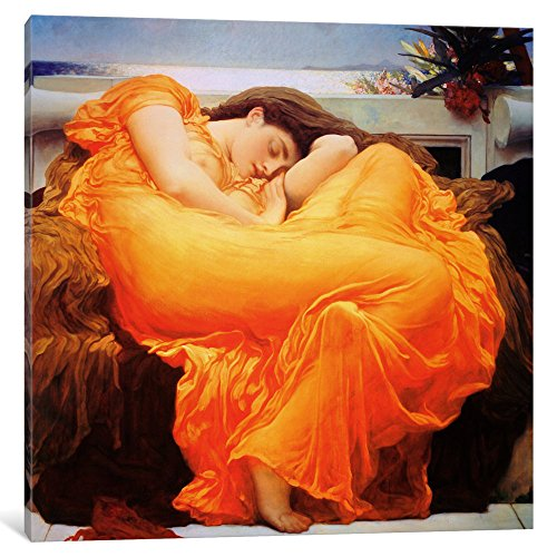 iCanvasART 1397-1PC3-26x26 Icanvas Flaming June Print by Frederick Leighton, 26