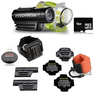 ContourROAM Hands-free Waterproof Camcorder + 16GB Ultra High Speed Memory Card Bundle