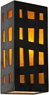 product image for ReFusion Grid Wall 1 Light Sconce Finish: Gunmetal and Tangelo