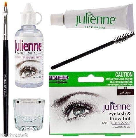 Julienne - Kit de tinte para pestañas y cejas (4 unidades), color ...