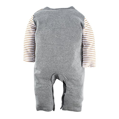 Big Elephant Baby Boys' 1 Piece Bear Long Sleeve Romper Jumpsuit with Hat G82 (3-6 Months)