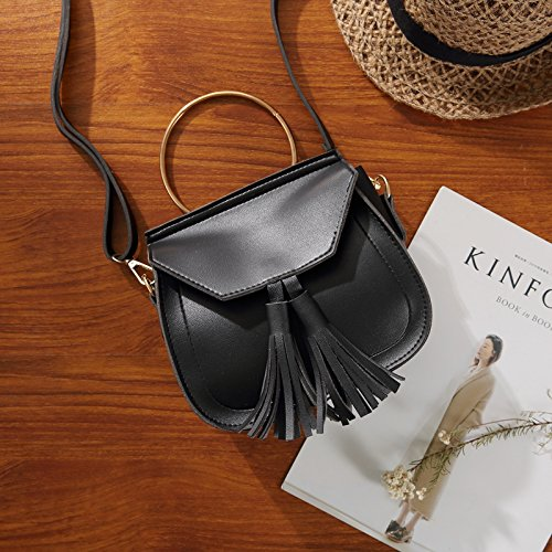 Bolsas black WXIN Solo Mini Solo Simple Moda Black la Hombro pequeñas Bag Mano dA4AH