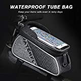 WATERFLY Bike Frame Bag Waterproof Bike Front