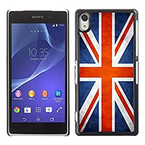 Shell-Star ( National Flag Series-Great Britain UK ) Snap On Hard Protective Case For SONY Xperia Z2 / D6502 / L50W