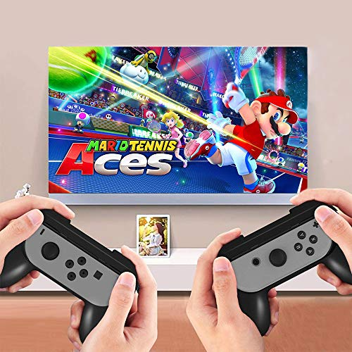 Controller Grips for Nintendo Switch Joy-Con (3-Pack), Megadream Wear-resistant Grip Controller Handle Kit for Switch with 4 Thumb Grip Caps