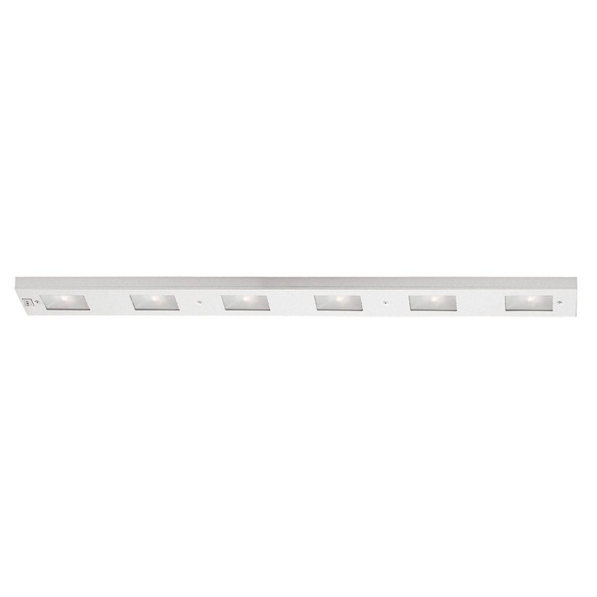 WAC Lighting BA-LIX-6-WT Premium Line Voltage 6-Light Xenon Under Cabinet, White Finish with Frosted Glass Lens by WAC Lighting (Image #1)