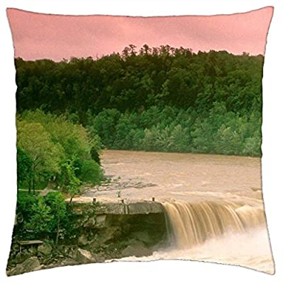 iRocket Pillow Cover - cumberland falls little niagara in kentucky