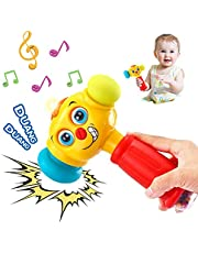 HOLA Baby Toys Boy Toys Light & Musical Baby Hammer Toy for 12 Months up | Infant Toys Funny Changeable Eyes Hammer Toddler Toys for 1 Year Old +