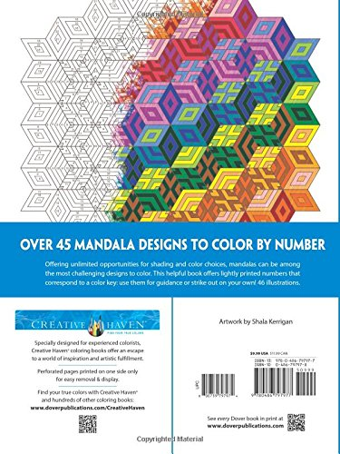 creative haven mandalas color by number coloring book adult coloring shala kerrigan 0800759797974 amazoncom books - Color By Number Books