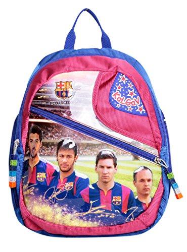 WUNDERSCHÖNER (!!) hoch qualitativer, offiziell lizensierter Original FCB FC Barcelona Kindergarten Rucksack, mit 2 Fächern - Neu mit Etiketten