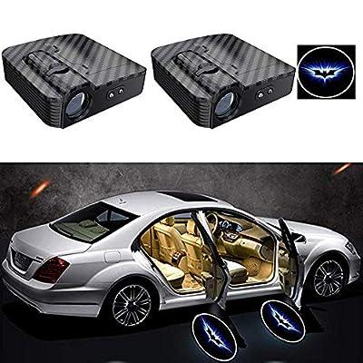 2PCS Carbon Fiber Texture Universal Wireless Universal Car Projection LED Projector Door Shadow Logo Light Welcome Lamps Courtesy Lights Kit Sensor (A): Automotive