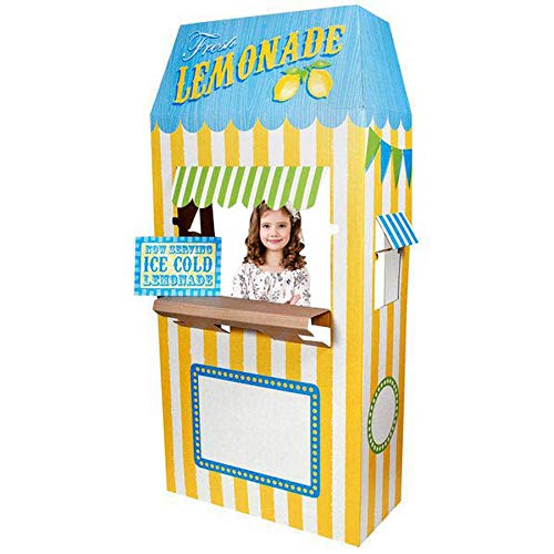 BirthdayExpress Carnival Games Party Supplies Decoration Lemonade Cardboard Stand]()