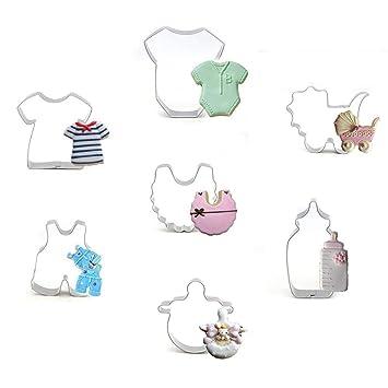 Zhuotop - Moldes de Acero Inoxidable para decoración de Cupcakes, diseño de Baby Shower: Amazon.es: Hogar