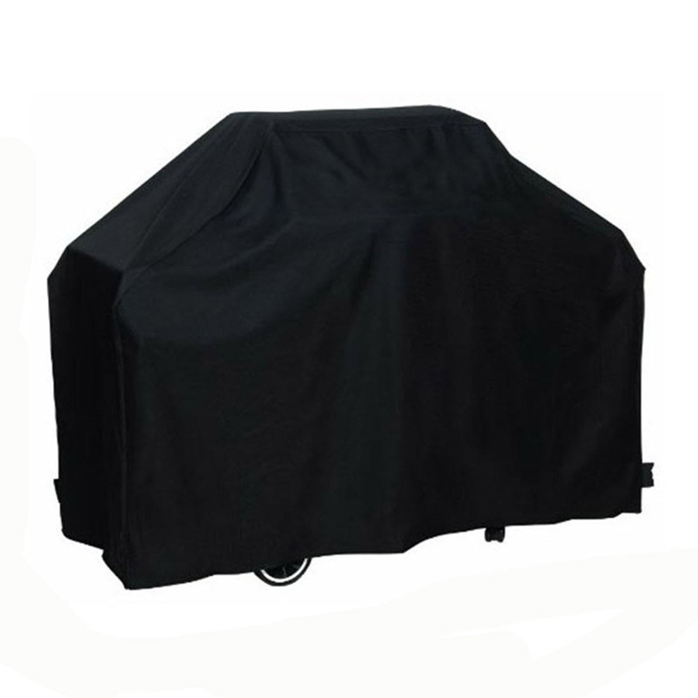 Black BBQ Cover Waterproof Weber Waterproof Dustproof Rain Snow Breathable Protector Barbeque Grill Cover Skyblue-uk
