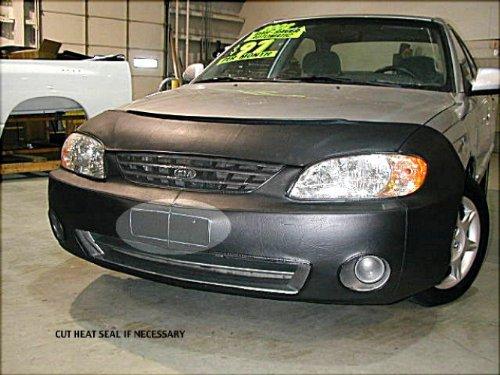 lebra-2-piece-front-end-cover-black-car-mask-bra-fits-kiaspectrabase-ls-only2002-2004